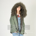 Fashion Real Lamb Fourrure Femmes Parka Winter Jacket