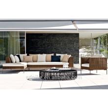 DE-(411) hand made furniture rattan balcony corner sofa set