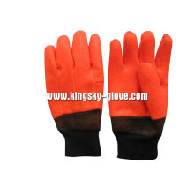 Sandy Finish Foam Liner PVC Chemical Winter Glove-5124.01