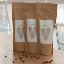 Custom Printed Kraft Paper Coffee Bag with Ziplock