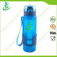 BPA-freie Silikon-faltbare und zusammenklappbare Wasser-Flasche