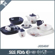 Фарфоровая посуда ежедневного набора экологически чистая посуда фиолетовая столовая посуда из винограда