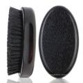 FQ marca homens de madeira de faia logotipo personalizado de madeira escova de barba preta