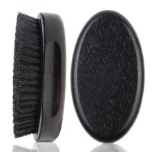 FQ marque bois de hêtre hommes en bois logo personnalisé brosse à barbe noire