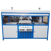 Estación doble máquina de moldeado al vacío de plástico