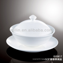 healthy japan style white special durable plate with cover
