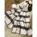 Star Style Silk Check Scarf