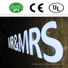 Alta calidad LED iluminado señal de letra de canal