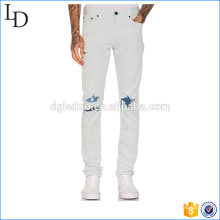 Washed white color new feeling soft jeans rock leisure denim jeans