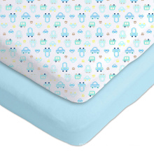 elastic crib sheet light blue crib sheets private logo customize fitted sheet