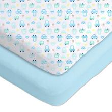 эластичный шпаргалка светло-голубой шпаргалки собственный логотип простыней