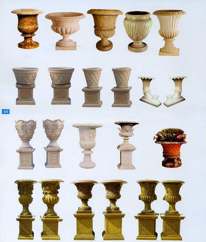 garden ornamental stone flowerpot