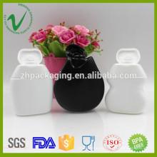 Botella apretada plástica plana de la salsa plástica de HDPE de 40ml de grado alimenticio