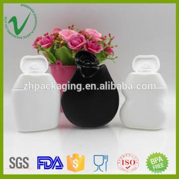 40ml food grade biodegradable HDPE flat soft plastic sauce squeeze bottle
