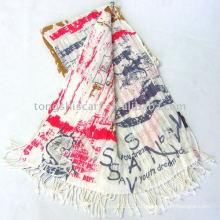 Жатый шали и шарфы