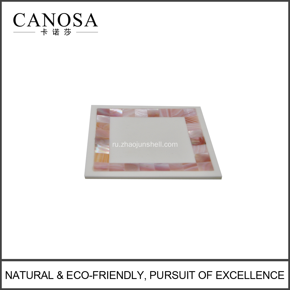 Natural Pink Shell Bathroom Soap Dishes for Luxury Hotel