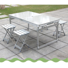 Wholesale high quality Aluminium alloy folding table frame portable camping table and chairs set