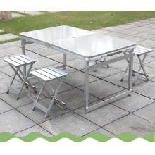 Оптовая высокое качество алюминиевого сплава складной стол каркас портативный располагать лагерем Таблица и стулы установленные