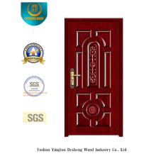 Porte de sécurité blindée de style chinois avec sculpture (b-6027)