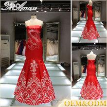 Alibaba China fabrica vestidos de noiva feitos à mão feitos sob encomenda
