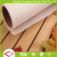 Papel de pergaminho tratado Silicone de 40GSM Rolls para o cozimento do pão