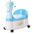 Duck Plastic Baby Potty Chair With Wheel