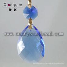 Productos nuevos por mayor azul gotas de cristal colgante de la lámpara