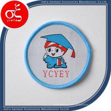 Parche tejido con logo de marca de alta definición para fiesta / uniforme