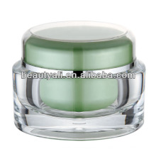 Tarro de crema cosmético de acrílico de la forma oval colorida de lujo