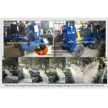 Pompe à eau diesel à irrigation à grande capacité, Pompe à eau d'irrigation agricole