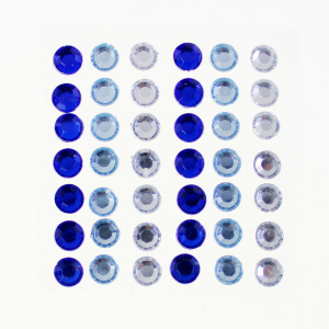Self Adhesive Round e Assorted Gemstone