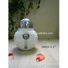 Boîte à thé en céramique de qualité Hight avec cuillère à vendre