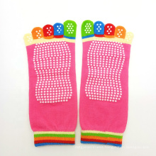 JW Women Colorful Five Toe Yoga Socks Custom Nylon Sexy Toe Yoga Pilates Socks