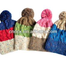 PK17ST169 pom pom knit bonnet bonnet
