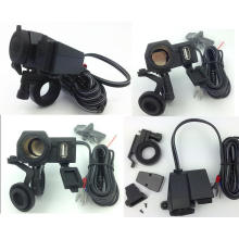 para Honda à prova de intempéries Motocicleta USB Telefone Móvel GPS Isqueiro Carregador