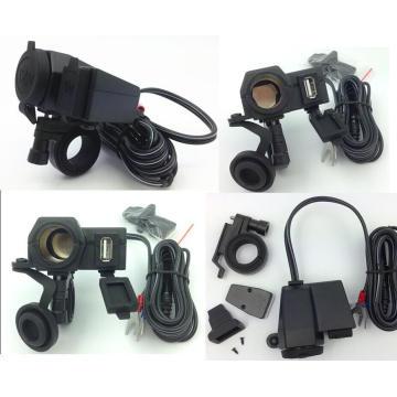 para el cargador del encendedor de cigarrillos del GPS del teléfono móvil de la motocicleta a prueba de mal tiempo de Honda