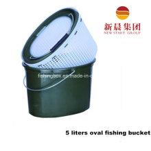 5 литров овальной формы зеленый пластиковые рыбалка ведро
