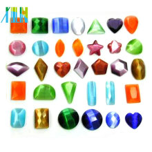 2014 wholesale AAA quality assorted shapes glass loose cat eye beads