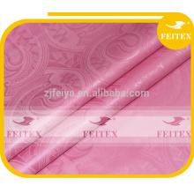 tissu africain bazin riche bazin matériel FEITEX rose africain brocade shadda