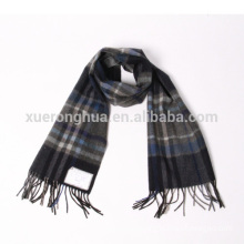 100% plaid pattern pure cashmere scarf