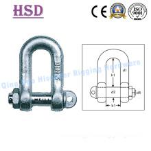Shackle, Fastener, Anchor Shackle, DIN82101 Shackle, D Type Shackle, European D Type, JIS D Type, Rigging Hardware, Marine Hardware