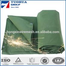 Tissu de bâche de toile de coton pour la couverture de camion de tente
