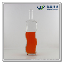 "Factory Supply ""S"" Shape Glass Wisky Bottle with Lid"