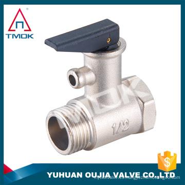 TMOK 1/2 '' Válvula de seguridad de latón con mango de plástico negro para válvula de alivio de aire de latón de la caldera de agua reducir la presión de la válvula