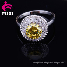 Fashion New Styles Real Gold CZ Anillos de piedra