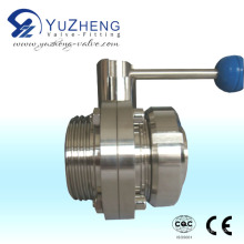 Stainless Steel Union Male Thread Butterfly Valve