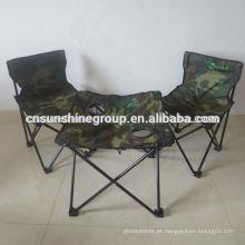 Leve e dobrável cadeira de acampamento conjunto para caminhada