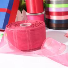 Cinta de organza transparente / cinta de raso para bodas / chrismas / fiesta decoración