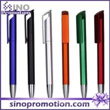 Lange Clip Werbung Kugelschreiber Metall Glanz Kunststoff Kugelschreiber
