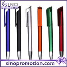 Long Clip Publicidad Bolígrafo Metal Lustre Bolígrafo Plástico